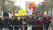法国18万人上街游行,不顾危险,竟没人戴口罩!警察只逮捕13人