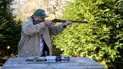 亨利.22lr小口径杠杆步枪,户外射击测试,声音小的连耳麦都不用戴!