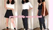 (英字)【Michelle Choi 】日常上学的3套穿搭//grwm my daily uni look + 3 outfits