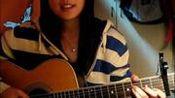 【手机自拍】小萝莉吉他弹唱 周杰伦 烟花易冷
