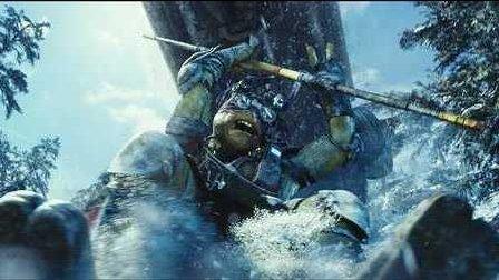 雪山滑坡追逐战