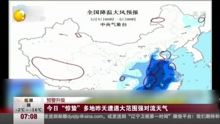 """预警升级:今日""""惊蛰""""多地昨天遭遇大范围强对流天气 第一时间 180305"""