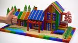 创意巴克球教程,如何用彩色巴克球建造彩虹农家庄园?乡野气息,超漂亮呢
