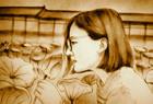 沙画肖像:一曲《蝶恋花》,花儿花儿为谁开,一年春去又归来!