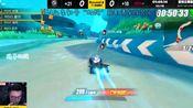 QQ飞车手游:亚特兰蒂斯新跑法,比赛中近道1分46秒,蛋仔666!