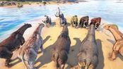 方舟生存进化:畸变巨犀VS猛犸象