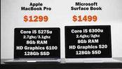 科技微讯 Surface Book 对比 MacBook Pro (13英寸)