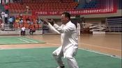 五祖拳传人卢远献在赛场上表演的五祖拳,功夫深厚!