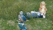 中国古代版大逃杀 被3只老虎和一队人围攻,我硬生生反杀了它们!