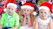 纳斯特亚、爸爸和她们的朋友一起迎接新年,但圣诞怪杰总是搞破坏