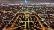 【Drowing在巴黎】体验埃菲尔铁塔的电梯并在瑟瑟寒风中欣赏巴黎夜景