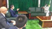 中国驻尼大使向尼日利亚众议长鞠躬道歉?使馆辟谣:系弯腰看视频