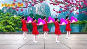 优美抒情扇子广场舞《语花蝶》好听好看,简单好学