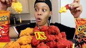 【Tasha/吃播/悦悦的小屋】吃热奇多炸鸡辣味vs原味辣辣脆脆的超香