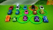 亲子互动一起玩套圈游戏分享汽车玩具