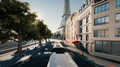 snakeybus 在巴黎玩3D贪吃蛇 缠满了整个巴黎全是巴士