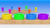 幼儿英语启蒙,套圈游戏,学习7种颜色