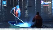 """十艘作业船夜夜奋战!西湖荷区""""清塘"""" 2020年改为夜间作业"""