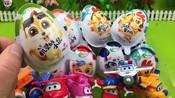 超级飞侠拆奇趣蛋玩具愤怒的小鸟蛋动物世界