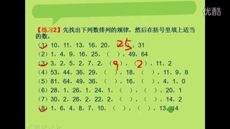 小学 四年级 奥数 举一反三 第1讲 找规律(一)