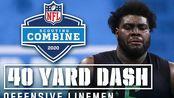 NFL2020-21年度新秀考察营进攻线锋40码dash视频