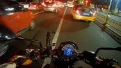 【kawasakiZ650 Moto Vlog】35#骑摩托车去看晚上的天安门