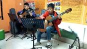 风尚吉他十里校区2020寒假集训课堂:师生同乐组合《小宝贝》1.16