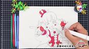 草莓简笔画 巴啦啦小魔仙之飞越彩灵堡