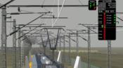 MSTS模拟火车日常单玩- 驾驶高速检测车全速前进 达到400km/h 有受电弓视角 -地图 西格线