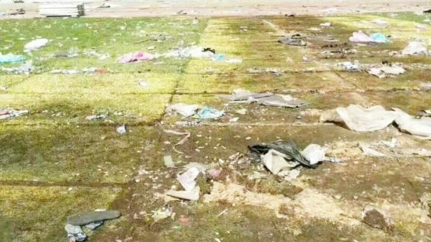 歌神演唱会后球场变菜地 垃圾遍地网友:别让张学友背锅