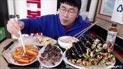 韩国吃播 小哥小吃店挑战40分紫菜包饭 太顶了 p2防撞