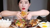 饱满饭菜的酱油蟹酱现成声音/ SOY SAUCE MARINATED RAW CRAB Mukbang Eating Show Cu