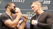 UFC209对视环节 伍德利汤普森相视一笑泯恩仇