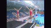 回顾2004奥运中国第10金 劳丽诗 李婷 跳水女子双人10米跳台