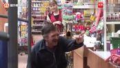 国外恶作剧:超市偷香常