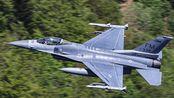 """美国空军F-16""""the Makos""""中队低飞训练~"""