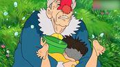 悬崖上的金鱼姬:波妞父亲捉住小男孩,把小男孩带到妈妈身边