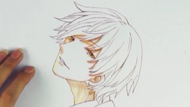 动漫美少年铅笔绘画教程