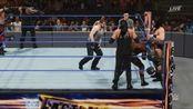 WWE盾牌大战德鲁·麦金太尔、鲍比·拉什利和科宾男爵,动画版!