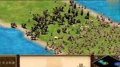帝国时代2 火枪阵被步兵冲垮,惊动了预备队
