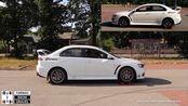 Mitusubishi Lancer Evolution X & Lancer Ralliart Sportback 4x4 test on rollers