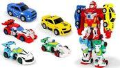 变形金刚:赛车工厂故事中超级合体汽车机器人玩具