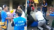 遇袭瞬间视频曝光!香港立法会议员何君尧遇袭,凶手拔刀直插前胸