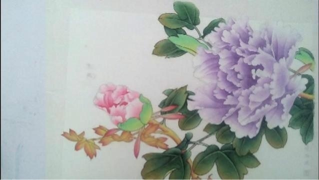 李祯工笔画牡丹.7小花朵染法与颜色对比