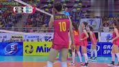 亚洲杯中国女排30横扫日本夺冠,看姑娘们第二局最后阶段的比赛