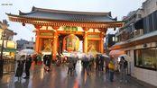 【散步游日本系列】在雨天的东京浅草夜行 4K超清