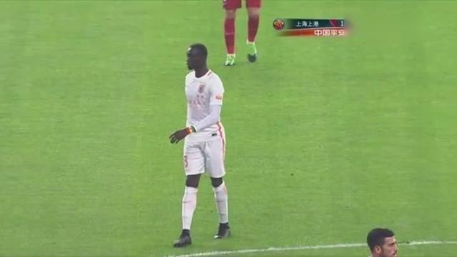 上海上港vs山东鲁能 中超-17金敬道宋龙连续犯规
