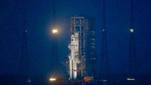 天舟一号发射全记录 长征七号火箭准时点火升空直播画面