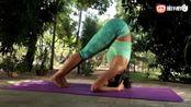 sikana瑜伽教程:曲折倒立式,拉伸核心肌肉,增加脑部供血