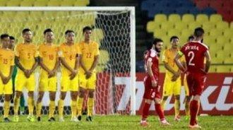 叙利亚补时阶段任意球扳平比分,国足2-2平叙利亚